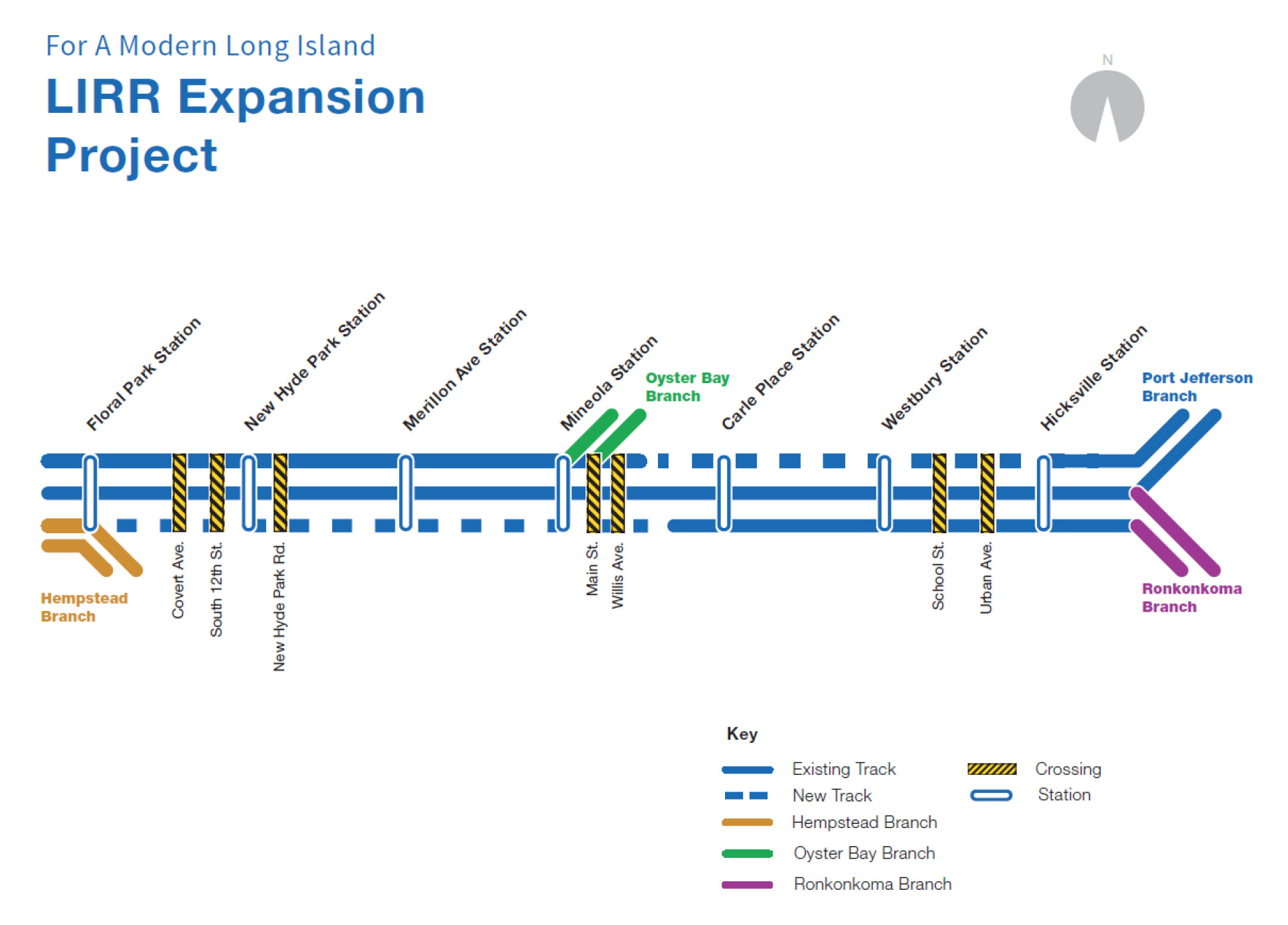 LIRR Expansion Project Diagram